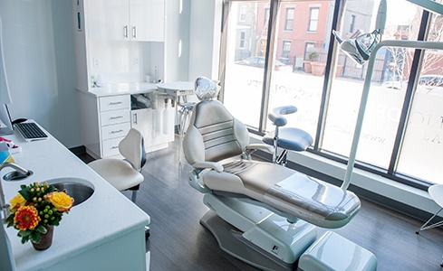 Comfortable dental treatment room