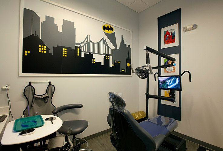 Kids dental exam room