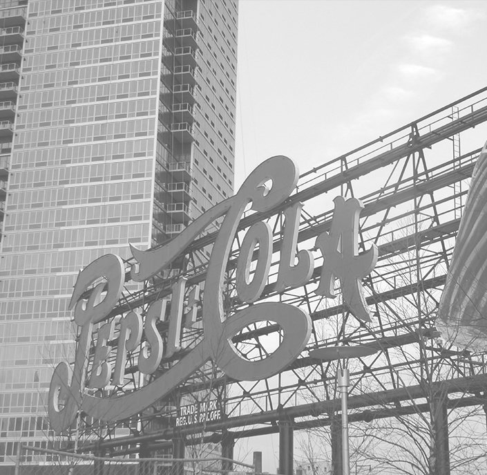 Pepsi Cola sign outdoors