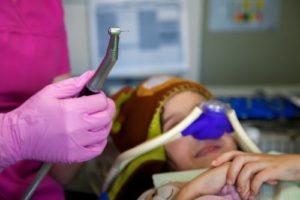 patient under nitrous oxide