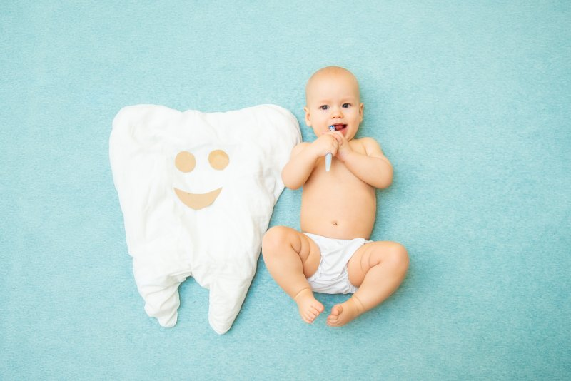 Baby and tooth